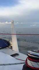 Becalmed in Bass Strait.