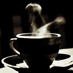 Geist / Ghost (Professor Tarantoga) Tags: kaffee geist ghost schwarzweis schwarzweiss blackwhite blackandwhite square squareformat quadratisch leben live dunkel dark