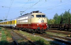 103 184  Minden  12.08.04 (w. + h. brutzer) Tags: minden eisenbahn eisenbahnen train trains elok eloks 103 e03 railway deutschland germany lokomotive locomotive zug db webru analog nikon