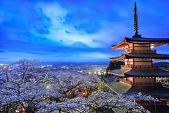 Retouchv1 Mt. Fuji Magical @ (JB ) Tags: 5dmki 5dmkiii canon japan jb    lightup sakura cherryblossom  ef1635mmf28liiusm ef2470mmf28lusm ef70200mmf28lisiiusm   yamanashi prefecture    chubu region koshinetsu  lake kawaguchi  mtfuji  fujisan mountain  fuji fujiyoshidashi