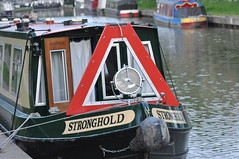 Stronghold with an impressive tunnel lamp (Kirkleyjohn) Tags: narrowboat canal canals englishcanals light lamp