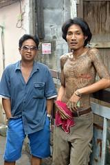 friends (the foreign photographer - ) Tags: dec52015nikon long haired tattooed guy friend khlong bang bua portraits bangkhen bangkok thailand nikon d3200