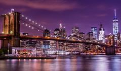 Brookly Bridge Night (David J. Batista) Tags: brooklynbridge newyorkcity longexposure canonrebelt5i bridges architecture