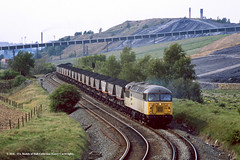 17/05/1989 - Dearne Valley South Junction, South Yorkshire. (53A Models) Tags: britishrail class56 56088 diesel freight dearnevalleysouthjunction southyorkshire train railway locomotive railroad