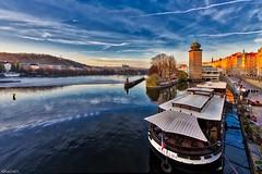 Prague from the Jirasek Bridge (kadofr) Tags: prague czech moldau mltava casle autumn