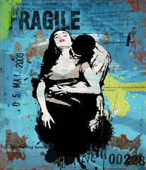 homage: hart (hoolia14oh4) Tags: altered collage art interpretationjoelhart text grunge passion embrace woman man paint