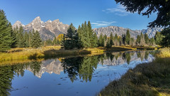 Schwabacher's Landing (LG G4) (Jeffrey Sullivan) Tags: lg g4 mobile phone camera images smartphone cellphone california usa photo copyright 2015 jeff sullivan september road trip jackson lake reflection grand teton national park