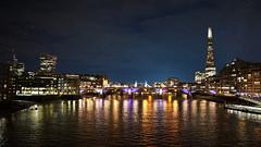 View from Millennium Bridge  (Giulio Gattuso) Tags: towerbridge londra london regnounito england inghilterra notte night sky city urban tealandorange