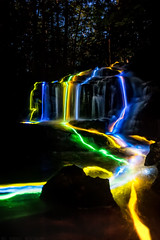 glowing falls (Kyle-Marshall-Photography) Tags: longexposure summer lightpainting water night waterfall nikon flickr newengland nik 24mm lightroom d700