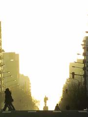 IMG_2287 (Esteban Trmboli) Tags: street city sunset people atardecer calle gente bright citylife ciudad monumentos silueta mardelplata