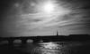Pont Jacques Gabriel (miemo) Tags: city travel bridge summer sky blackandwhite bw france silhouette clouds river europe pillar olympus loire loirevalley omd blois loiretcher em5 panasonic1235mmf28