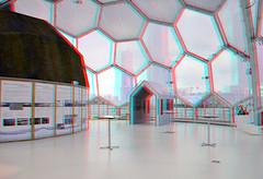 Rijnhaven Floating Pavilion 3D (wim hoppenbrouwers) Tags: 3d rotterdam floating anaglyph dome pavilion koepel wilhelminapier redcyan rijnhaven drijvendpaviljoen rijnhavenfloatingpavilion