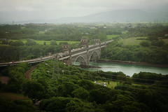 Britannia Bridge (Nomis.) Tags: bridge panorama wales lumix climb high view panasonic column tall menai strait marquess britannia llanfairpwllgwyngyllgogerychwyrndrobwllllantysiliogogogoch anglesey llanfairpg menaistrait llanfairpwll britanniabridge marquessofanglesey lx3 marquessofangleseyscolumn