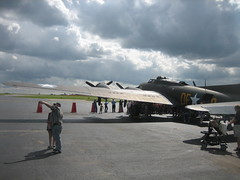 Memphis Belle B-17 (ianulimac) Tags: old summer ny clouds airplane flying rumble airport buffalo aircraft tail wwii wing b17 moviestar restored guns boeing bomber propeller cyclone flyingfortress warbird memphisbelle radialengine 50caliber