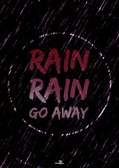 Rain Rain (JasonWStanley) Tags: rain weather photoshop poster typography design grunge raindrops