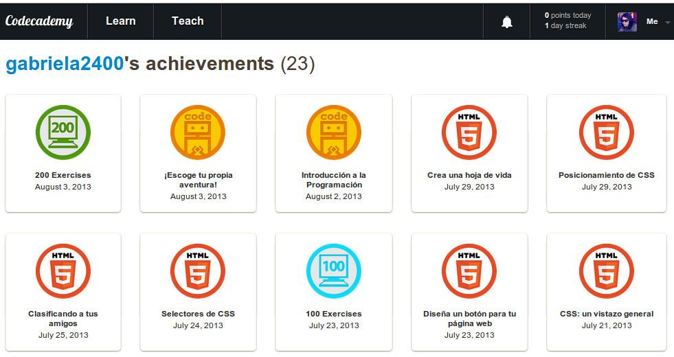 codecademy badges