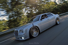 Chrysler 300C SRT8 (Jesse Pells) Tags: cars dusty silver movement action rides rollers panning rolling whips slammed stance lowlife canonef1740f4lusm beastcoast chrysler300csrt8 stancenation carsandcopters2013