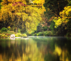 Solitude in the Big City (Babylon and Beyond Photography) Tags: park city nyc morning autumn lake color green fall beautiful reflections gold solitude alone centralpark manhattan central conservation september fallfoliage glorious stunnin