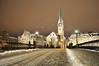 Winter in Zurich (Juan Rubiano) Tags: christmas longexposure original light color colour church atardecer schweiz switzerland navidad nikon colorful europa europe european suisse suiza swiss nieve zurich perspective cities churches iglesia kirche kirchen sunsets colores ciudades nightshots invierno atardeceres colourful zürich iglesias brücke nachtaufnahme winterphotos kapellbrücke d300 largaexposición rubiano perspectivas greatshots supershot withoutphotoshop topshots sinphotoshop sinretoques withoutedition artlibre holidaysvacanzeurlaub holidaysvancanzeurlaub travelerphotos 100original sinedición withoutretouching sinhdr lovetoyourchristmas withouthdr leuropepittoresque purafotografía photopure juanrubiano wwwjuanrubianocom