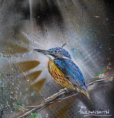 Flight of fancy (Grooover) Tags: streetart brick bird london lane kingfisher grooover