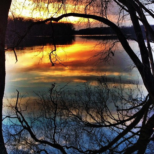 Connecticut River Sunset. (iPhone image with Pro HDR iPhone app)