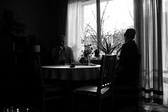 Uncle & Dad (Eldar.Spahic) Tags: family people white black home window nikon dad room dinning talking d3 flagship