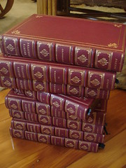 "KNIGHT'S ""SHAKSPERE"" 8 VOLUME SET IN FULL MOROCCAN LEATHER BINDINGS, 1843. • <a style=""font-size:0.8em;"" href=""http://www.flickr.com/photos/51721355@N02/11121045203/"" target=""_blank"">View on Flickr</a>"