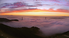 Hawk Hill at Dawn - November 30, 2013 (glassjudah) Tags: sanfrancisco california fog clouds sunrise dawn bravo marin goldengatebridge goldengate sanfranciscobayarea bayarea marincounty judah marinheadlands ggnra goldengatenationalrecreationarea hawkhill judahglass photographybyjudahglass photographybyjudah glassjudah