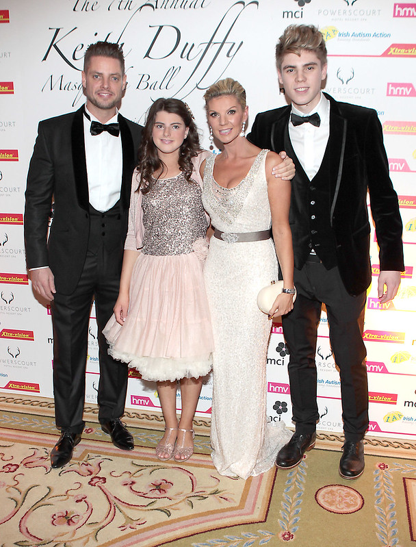 Keith Duffy, Lisa Duffy, Mia Duffy and Jay Duffy. Picture: Brian McEvoy
