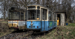 Two decayed beauties (Michis Bilder) Tags: tram hdr