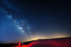 Hunting Baade's Window (Jason Carpenter) Tags: longexposure blue sky night skyscape stars landscape iso3200 sand nikon colorful nightscape space dunes galaxy manual nm nikkor alamogordo f28 lightroom milkyway reallyrightstuff whitesandsnationalmonument 14mm bh55 2013 mentorseries d700 1424mmf28g nikon1424f28 astrometrydotnet:status=failed dfine2 jasoncarpenter tvc33 vision:sunset=0549 vision:outdoor=0913 vision:sky=099 vision:dark=0679 vision:ocean=0534 vision:clouds=0968 astrometrydotnet:id=nova178756