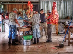 Butchering aCow (Costa Rica Bill) Tags: food cow costarica cattle hdr herradura snapseed epl5