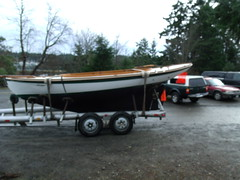 Port Hadlock WA - Northwest School of Wooden Boatbuilding - TRUANT gaff-rigged sloop built at school in mid-1990's departing by road for The Center for Wooden Boats in Seattle WA (Northwest School of Wooden Boatbuilding) Tags: wood boat wooden washington marine craft olympicpeninsula porttownsend pacificnorthwest wa pugetsound carvel pnw woodworking craftsmanship boatbuilding woodshop sloop truant porthadlock boatshop vocational boatschool classof2011 gaffrigged vocationaltraining quimperpeninsula nswb carvelbuilt northwestschoolofwoodenboatbuilding traditionallargecraft nwboatschool nwswb nwswbb