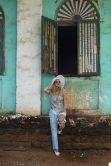 Lovebyn Goa Lovin (Love by N) Tags: travel blue india white hat sunglasses fashion outfit shoes top turquoise goa jeans denim cavalli zara turkish travelblog lookbook fashionblog ootd boyfrriend seetherough lookbooker lovebyn