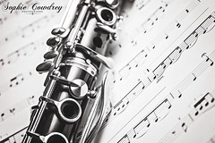 18. Music (Sophie Louise Cowdrey) Tags: music stilllife playing project photography notes band hobby musical orchestra instrument sheet 365 musicalinstrument sheetmusic woodwind clarinet trebleclef project365 instrumentalist bbclarinet