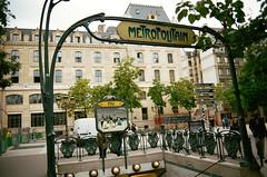 Cité (Scott Zdon) Tags: street paris film metro cité rue nikonf3