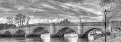 Richmond Bridge cropped bw (ArtGordon1) Tags: uk bridge england london thames richmond riverthames richmondbridge davegordon davidgordon stonearches artgordon1 daveartgordon daveagordon davidagordon