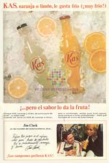 """Kas. """"El sabor lo da la fruta"""". 1967"""