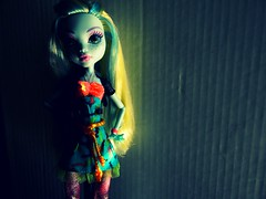 Fish out of water (JoolianShmoolian) Tags: blue fish fashion monster hair high doll day picture blonde creeper bl lagoona