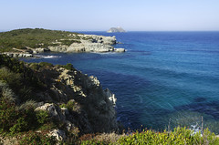 Hiking at Cap Corse (Gregor  Samsa) Tags: autumn light sea cliff france fall grass walking french island october mediterranean view hiking walk corse corsica meadows hike cliffs trail cap vista overlook viewpoint mediterraneansea capcorse barcaggio korsika