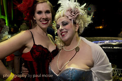 Sharp to Look at (Paul McRae (Delta Niner)) Tags: costume wig cleavage artcarball kimhopson