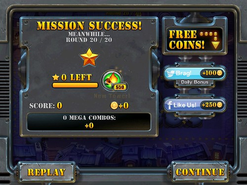 Fieldrunners 2 Level Completed: screenshots, UI