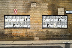 Downtown Pittsburgh, June 2014 (evz922) Tags: life street old city people urban woman white man black building brick art wall hair way children one see photo words eyes alley perfect long child faces expression no parking fine young bald picture sidewalk short ponytail adults humans feelings