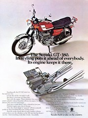 1972 Suzuki GT-380 Advertisement Hot Rod Magazine April 1972 (SenseiAlan) Tags: hot magazine advertisement april rod suzuki 1972 gt380