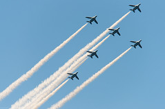 dimensional formation (gemapozo) Tags: sky japan airplane tokyo nikon   d800 jsdf  blueimpulse  jasdf 80400mmf4556dvr jingugaien  aiafvrzoomnikkor80400mmf4556ded
