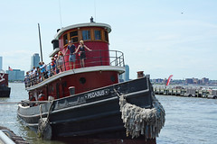 Picture Of The Tugboat Pegasus Giving Free Rides On The Hudson River In New York City As Part Of The  Sixth Annual North River Historic Ship Festival Held At Pier 25 On The Hudson River. Photo Taken Saturday June 21, 2014 (ses7) Tags: pegasus tugboat