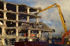 Un immeuble en cours de démolition