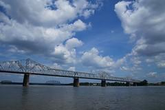 2014-06-30 10.25.19 1 (kwan.chan) Tags: bridge sky water clouds river kentucky louisville ohioriver