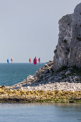 Guess where Monday Blues? (s0ulsurfing) Tags: summer june boats island coast boat sailing yacht horizon sails sigma telephoto solstice isleofwight boating sail yachts fleet isle wight yachting 6d flotilla 2014 50500mm roundisland s0ulsurfing rtir coastuk welcomeuk jpmorganassetmanagementroundrace roundyachtrace