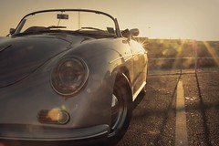 Sittin' here resting my bones - Day 173 (CY2010) Tags: sunset classic golden bay dock retro porsche 1957 365 speedster chesil sittin 356 worldcars cy2010